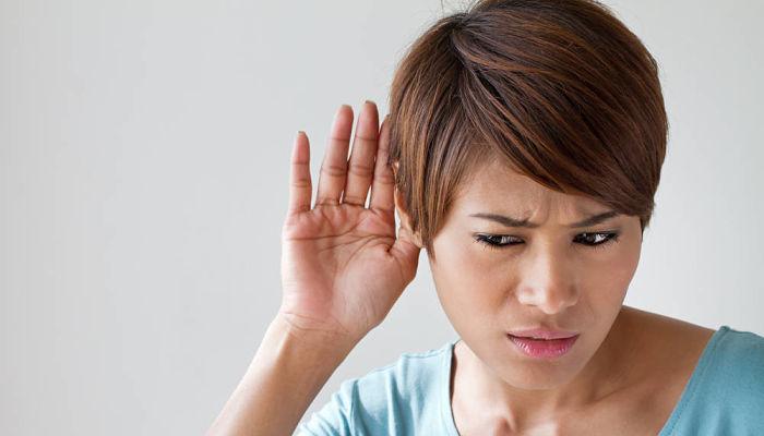 disminución de la audición